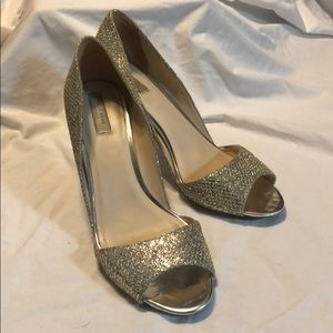 Perfect Party Shoe! Cole Haan D'orsay Heels Silver